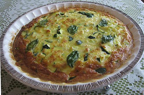 Zucchini and leek fritata