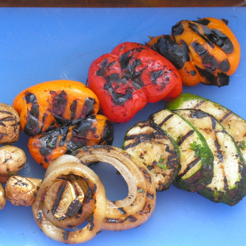 Grilled Vegetables for Grilled Pizza1