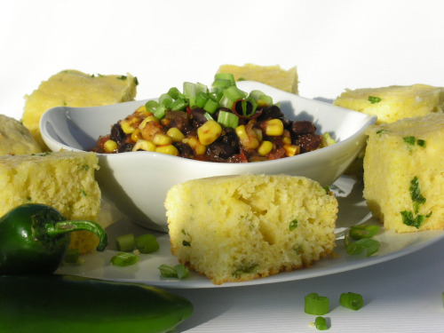 Mexican Salad and Jalapeno Corn Bread2