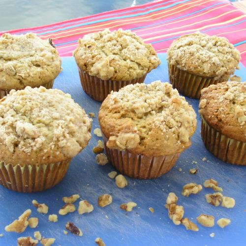 Allspice Apple Crumb Muffins