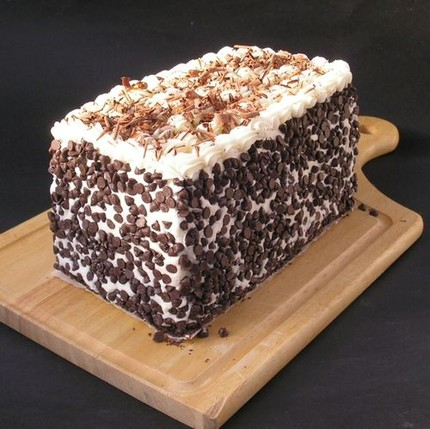 Devil's Food Cake with Chocolate Curls