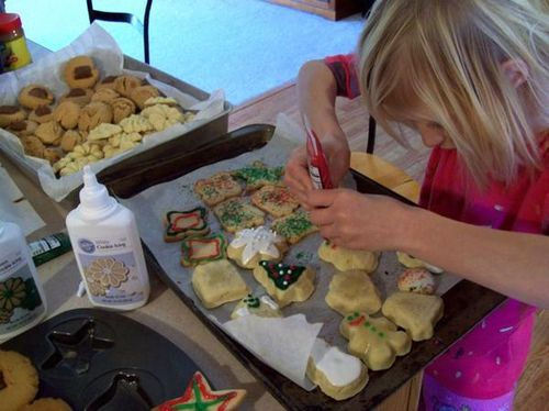 Decorating the Christmas Cookies