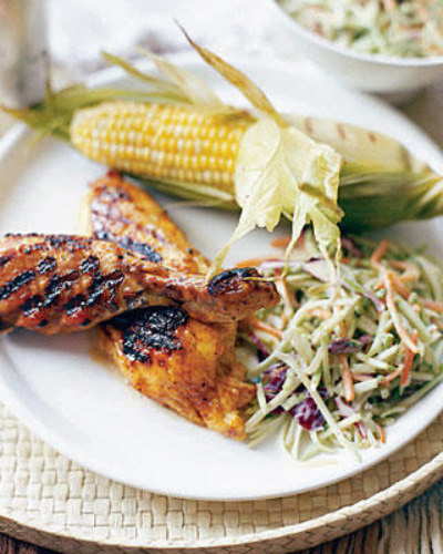 Chicken with Broccoli Slaw and Corn