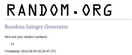 Random Generator Bertolli Winner