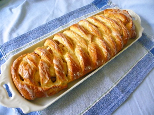 Vegan Apple and Cheese Danish Braid