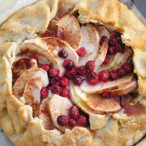 Apple Cranberry Tart image