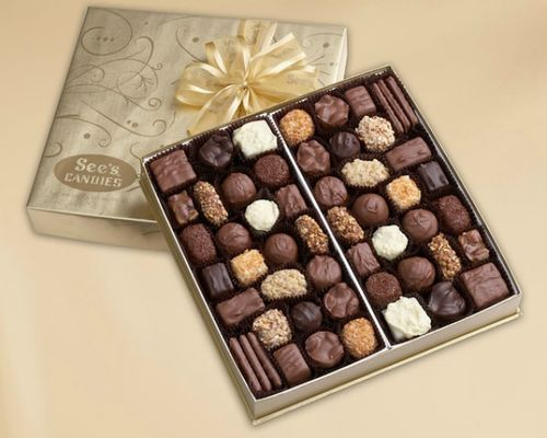 Christmas Candy image - Sees Gold Fancy Chocolate Assortment 1