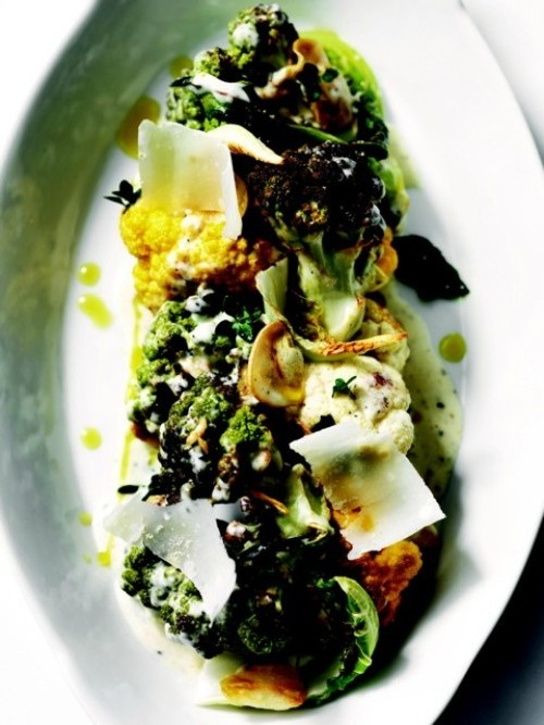 Tyler Florence Fresh Cookbook - Roasted Cauliflower with Anchovy Recipe