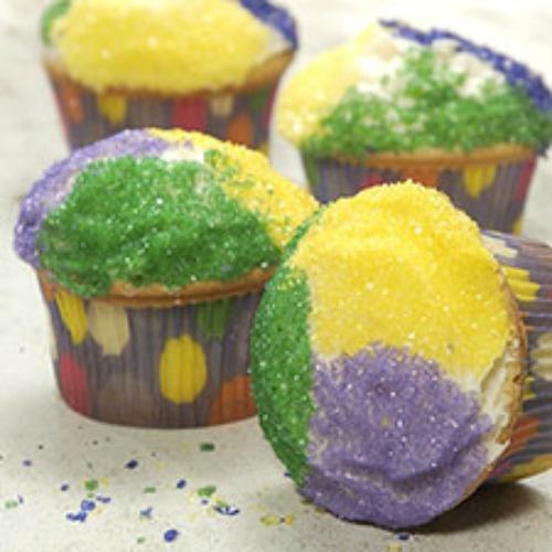 Mardi Gras King Cake Cupcakes image King Arthur Flour