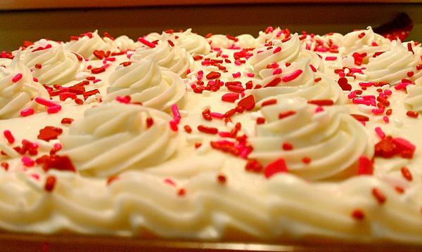 Valentines Day Dessert Red Velvet Cake Recipe with Cream Cheese